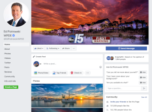 Mixing personality with meteorology on Facebook