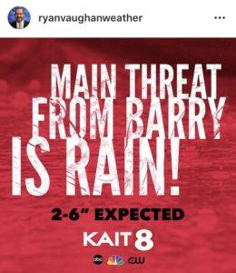 Tropical Storm Barry Forecast Instagram