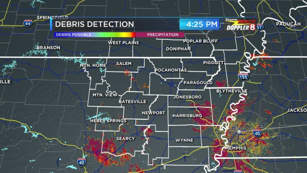 Correlation Coefficient Dual Pol Radar Data